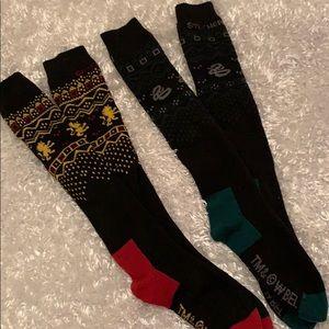Harry Potter Gryffindor and Slytherin Knees Socks